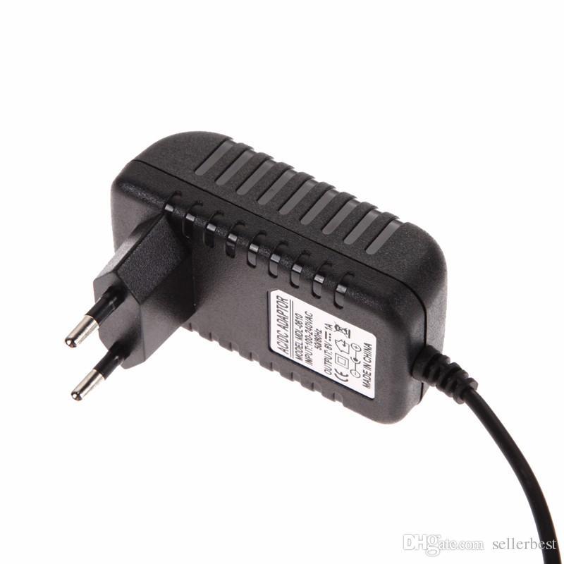 Adaptador de convertidor de CA 100-240V de alta calidad DC 5.5x2.5MM + 2.5X0.7MM 6V 1A Cargador de enchufe de la UE