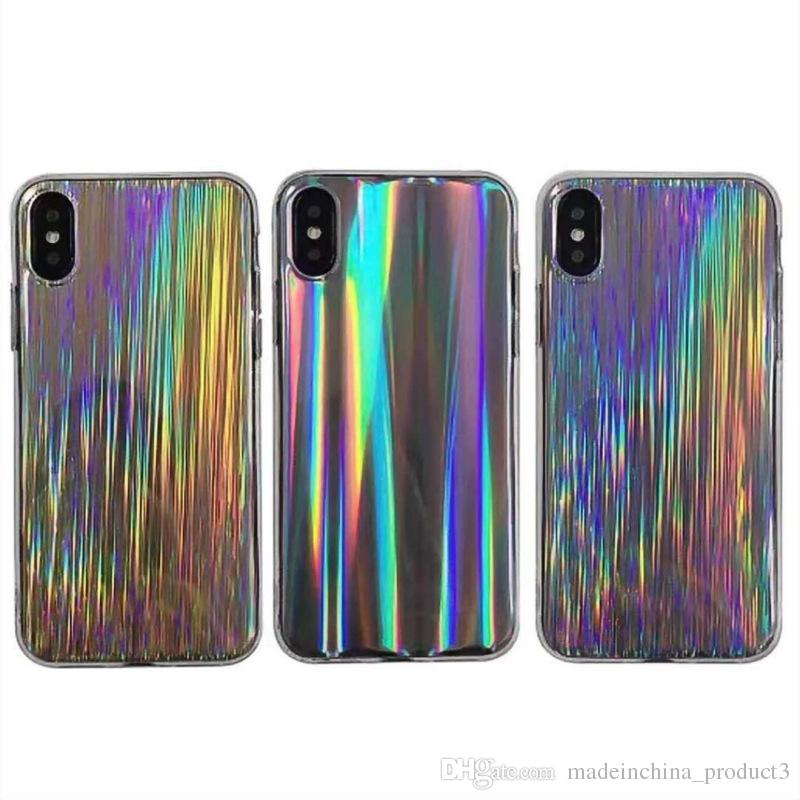 Colorful Laser Phone Case for iphone X 8plus Fashion IMD Soft TPU Back Cover for iphone 8 7 6 6s plus Shell