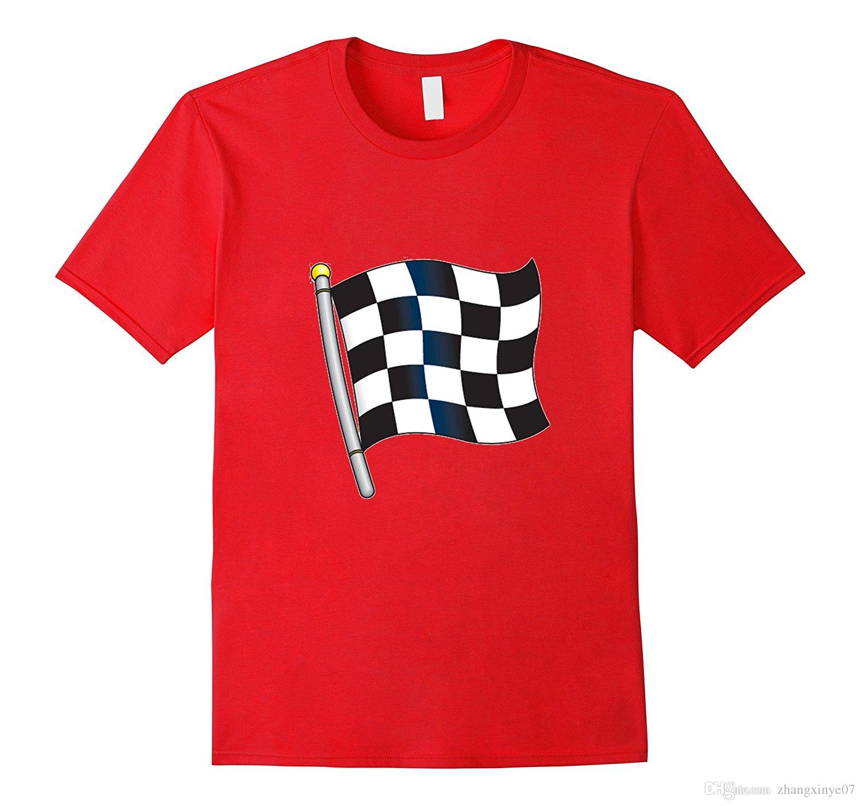 Checkered Flag Emoji T Shirt Race Car Flag Pole Shirts Designer