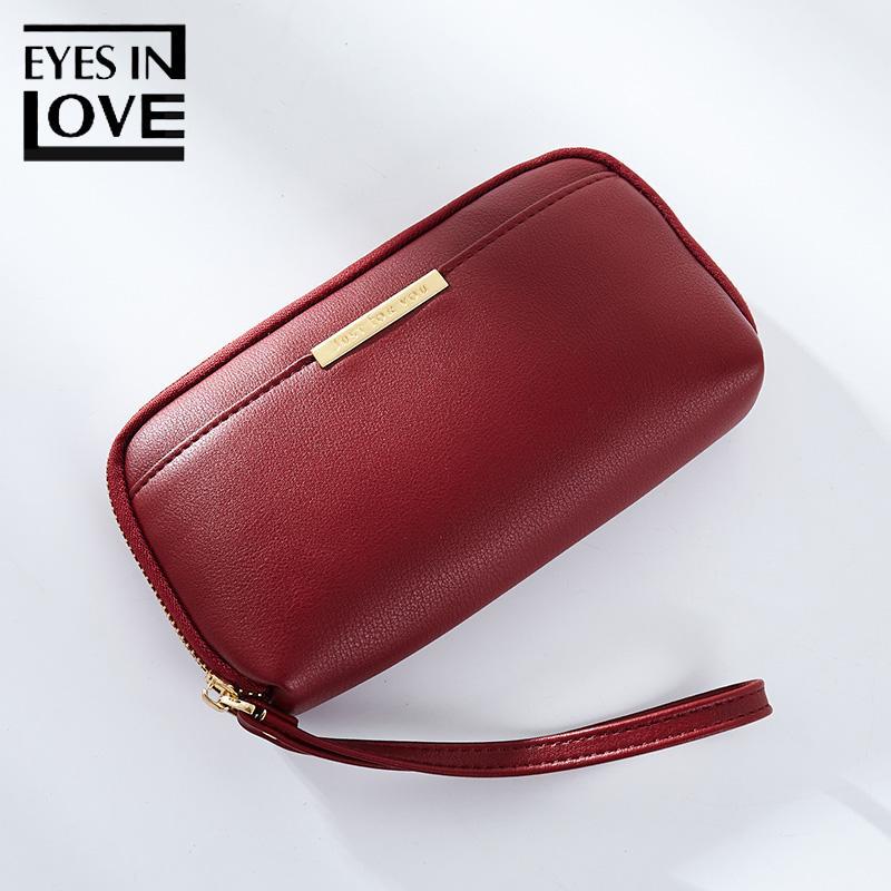 Großhandel Augen In Liebe Solide Brieftasche Frauen Wristlets Casual