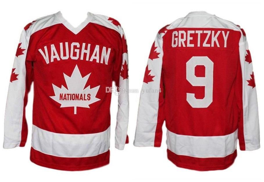 2019 Wayne Gretzky Vaughan Nationals Retro Ice Hockey Jersey Mens Stitched  Custom Any Number And Name Jerseys From Yufan4 c28f6b8592b