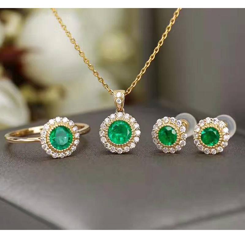 4726e8fcde60 Compre CoLife Jewelry Esmeralda De Plata Conjunto De Joyas Para La Boda  Esmeralda Natural Sólido Conjunto De Plata 925 A  134.59 Del Fotiaoqia