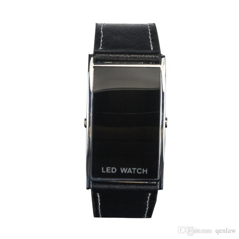 Compre Moda Para Mujer Para Hombre Relojes Digitales Negro Unisex Reloj LED  Deportes Relojes De Pulsera Digital Banda De Cuero Pulsera Relojes Dec14 A  ... 3b8519249a0c