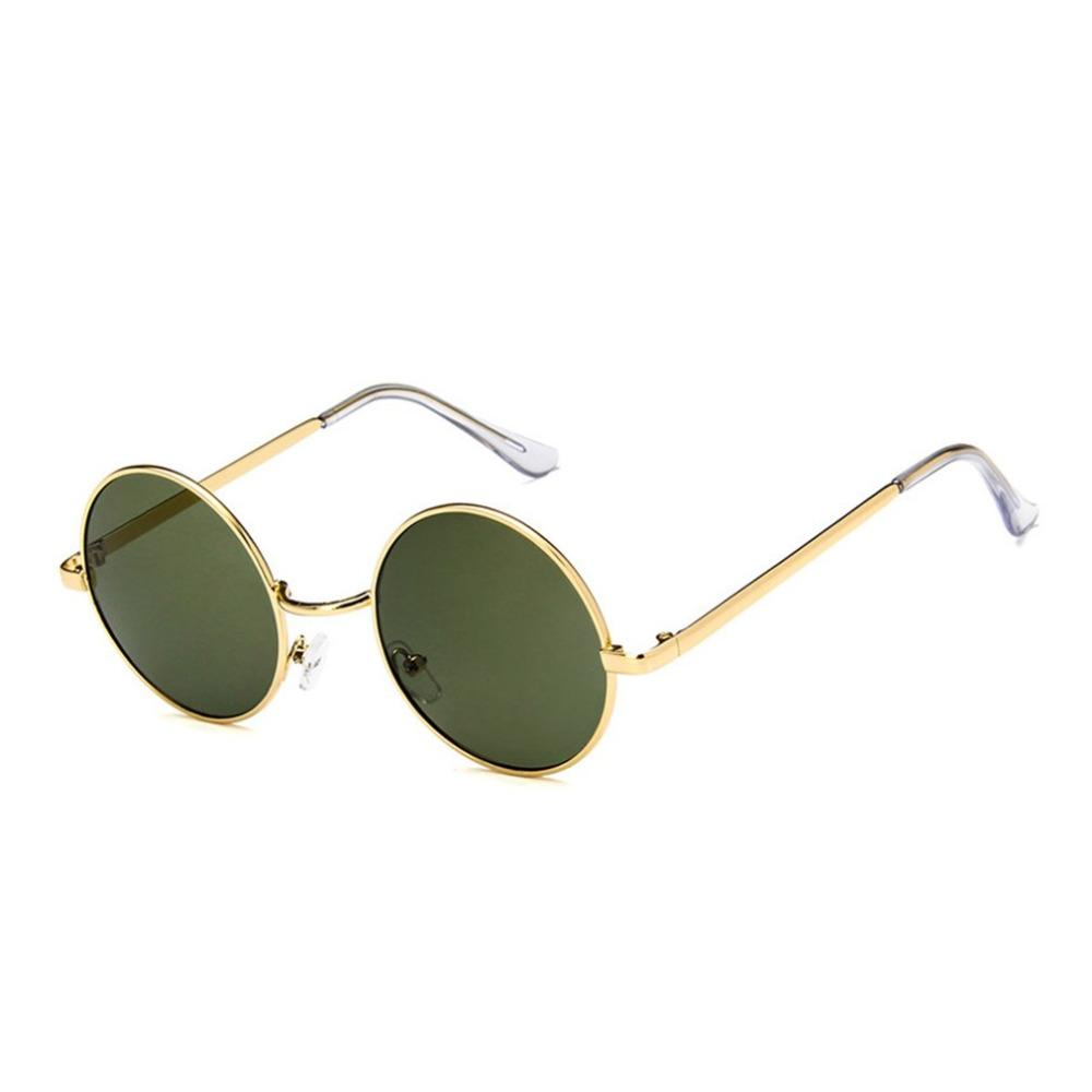 6709fdc877dc Round Circle Eyewear Glasses Metal Frame Men Women Sunglasses Anti UV Candy  Color Lens Sun Glasses Vintage Shades Polarized Sunglases Cheap Designer ...
