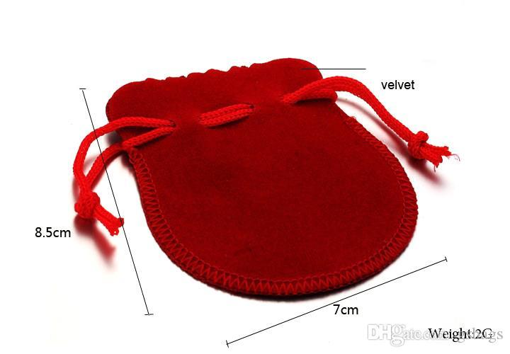 borsa di velluto a forma di zucca rossa Confezione di gioielli Regalo di sacchetti di borsellini
