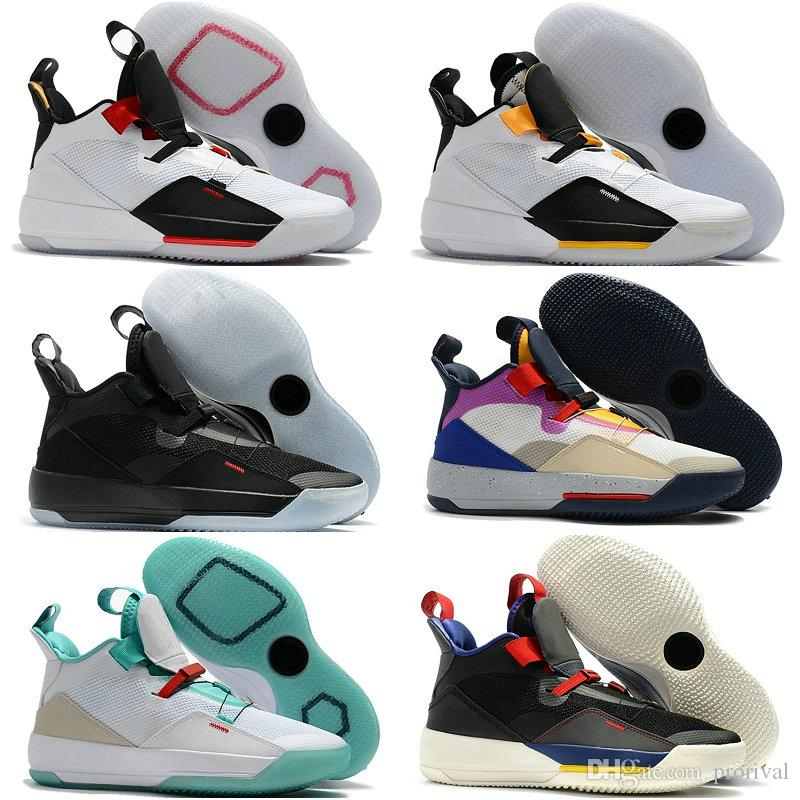 promo code ea69f 83a83 2019 New Brand Jumpman 33 XXXIII Future Of Flight Blackout Mens Basketball  Shoes Men 33s Zapatillas Multicolors Black Yellow Sport Sneakers Cool  Basketball ...
