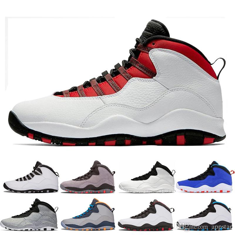 21ae8e064c0e New 10s Mens Basketball Shoes Tinker Cement Bobcats Grey Red Chicage ...