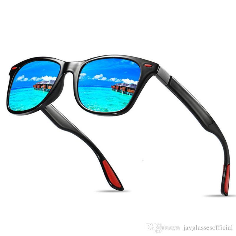 Compre Moda Polarizada Óculos De Sol Dos Homens Movimento Designer De  Condução Óculos De Sol Das Mulheres Do Vintage Anti UV Motorista Preto Azul Óculos  De ... ec5dfafa05