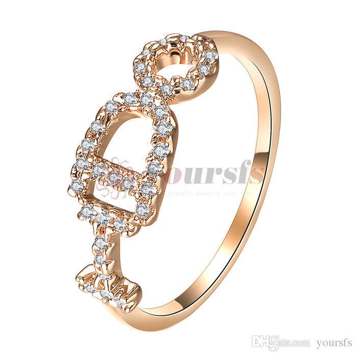 cf71947a71ef Compre Yoursfs Zircon 8 Palabra Anillos Para Las Mujeres Joyería De ...