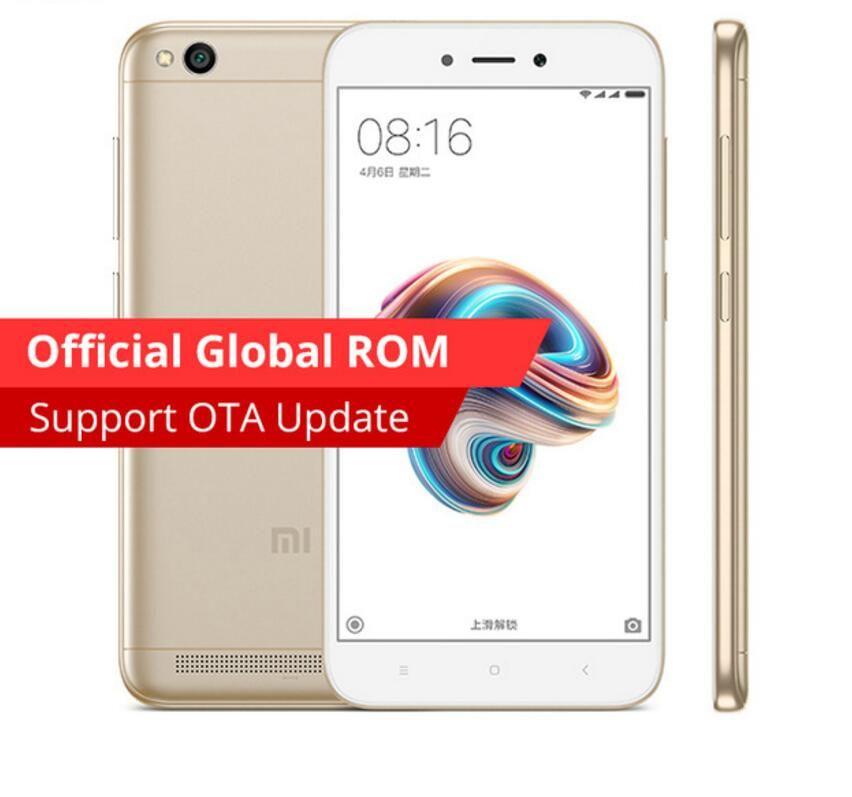Wholesale Original Xiaomi Redmi 5A 16GB ROM 2GB RAM Snapdragon S425 Quad  Core Mobile Phone MIUI9 3000mAh 5 0