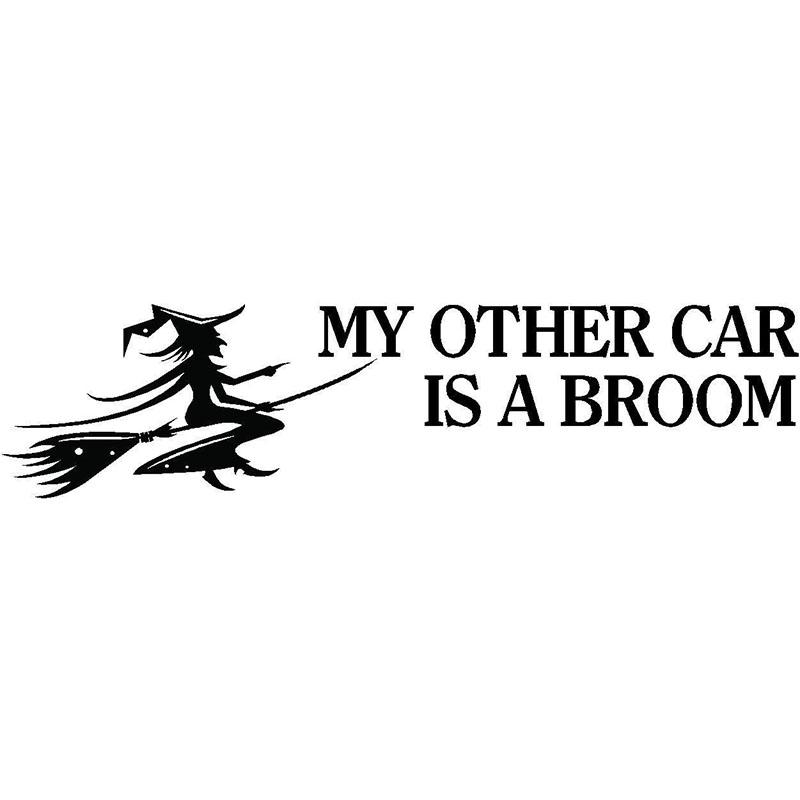2019 My Other Car Is A Broom Funny Car Sticker Vinyl Car Packaging