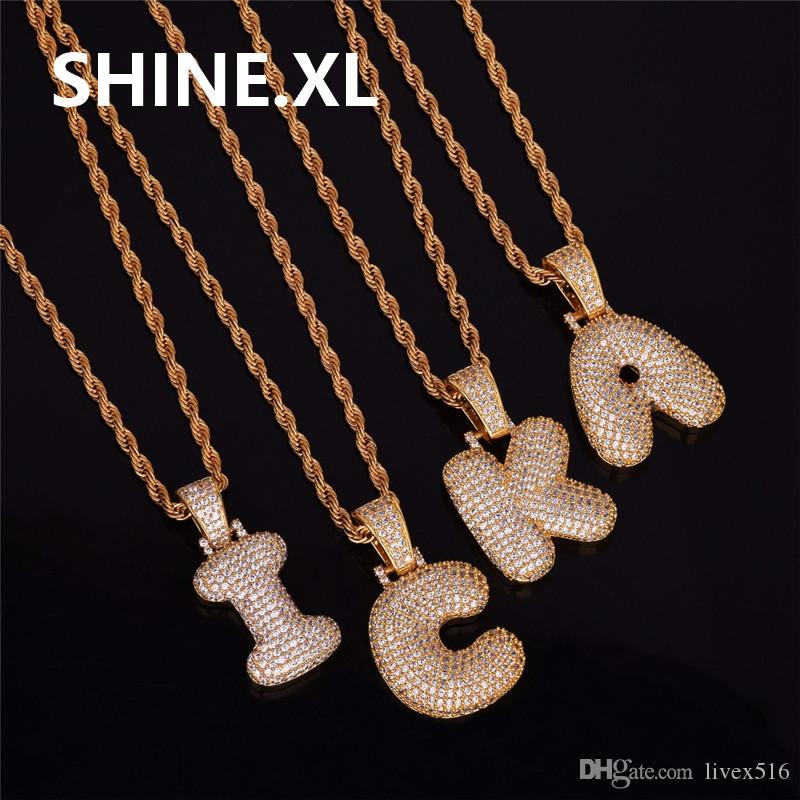 Wholesale Men S Hip Hop Gold Silver Color Copper Cubic Zirconia Custom Name  Bubble Letters Pendant Necklace Bling Jewelry Butterfly Pendant Necklace ... feb66ebb41bf