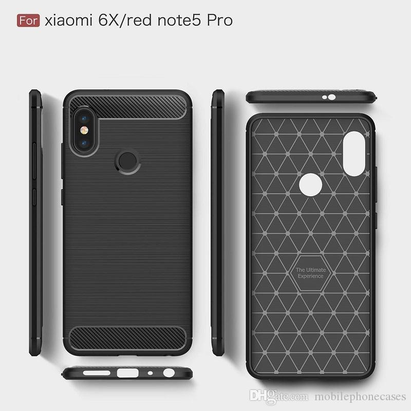 2018 New CellPhone Cases For Redmi Note5Pro Luxury Carbon Fiber heavy duty case for Xiaomi6X cover Free DHL shipping