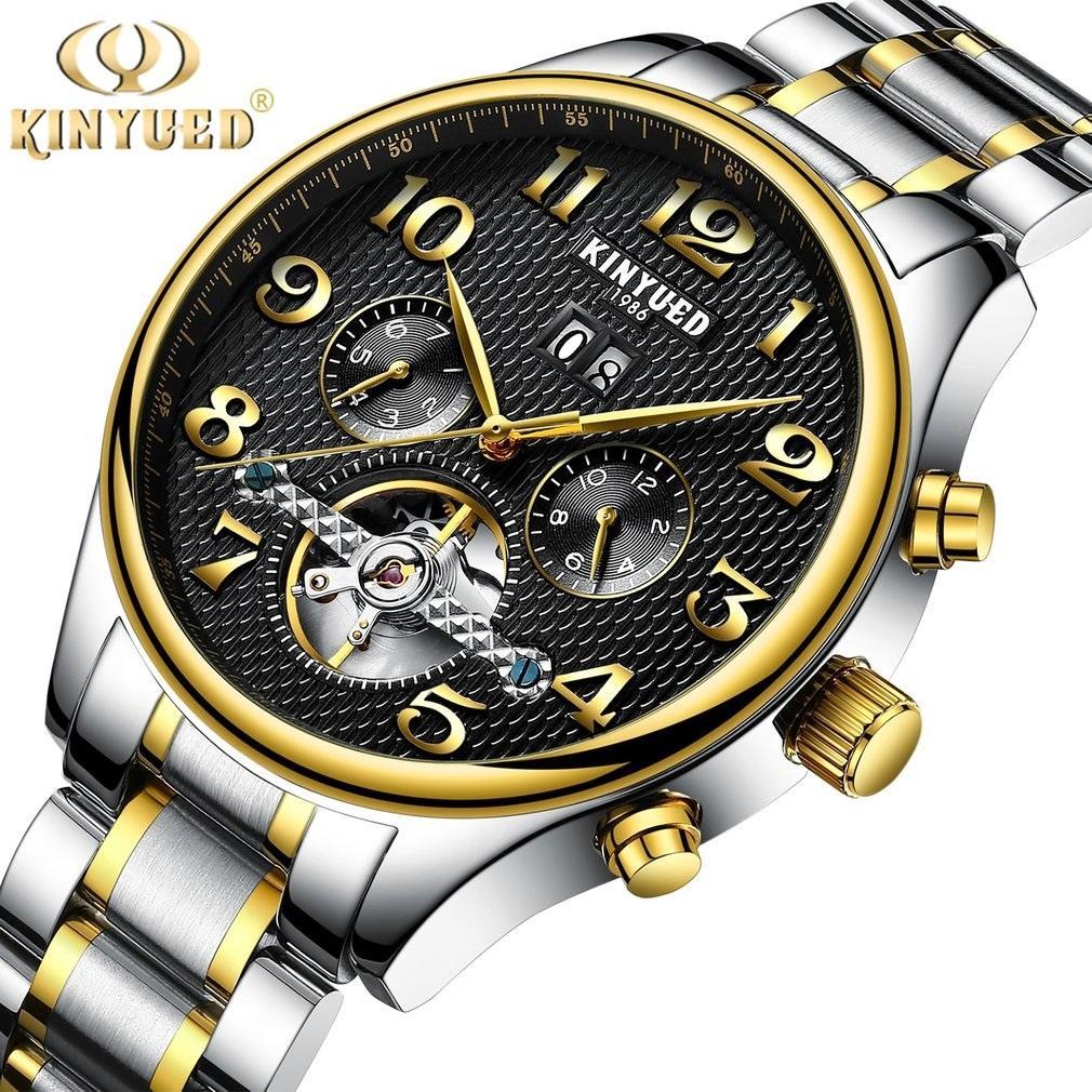Compre KINYUED 1986 Classic Skeleton Men s Mechanical Watch Con Reloj De  Cuero   Acero Relojes De Cuerda Automática A  60.26 Del Tianjima  e28f0fac4a9