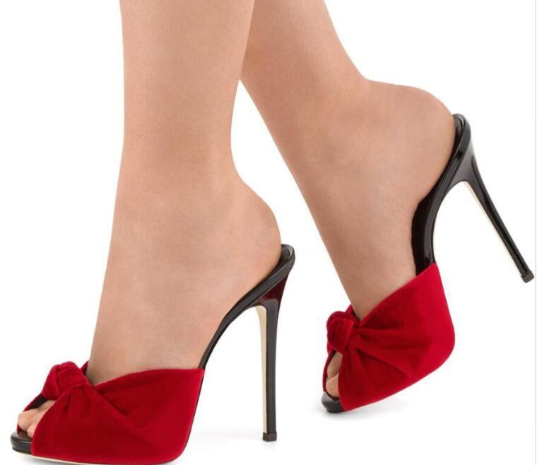 e0092d55b 2018 Fashion Women Peep Toe Sandals Party Shoes Summer Slide Sandals Red  Bowtie Sandals Cute Bow High Heels Sandals For Women Knee High Gladiator  Sandals ...