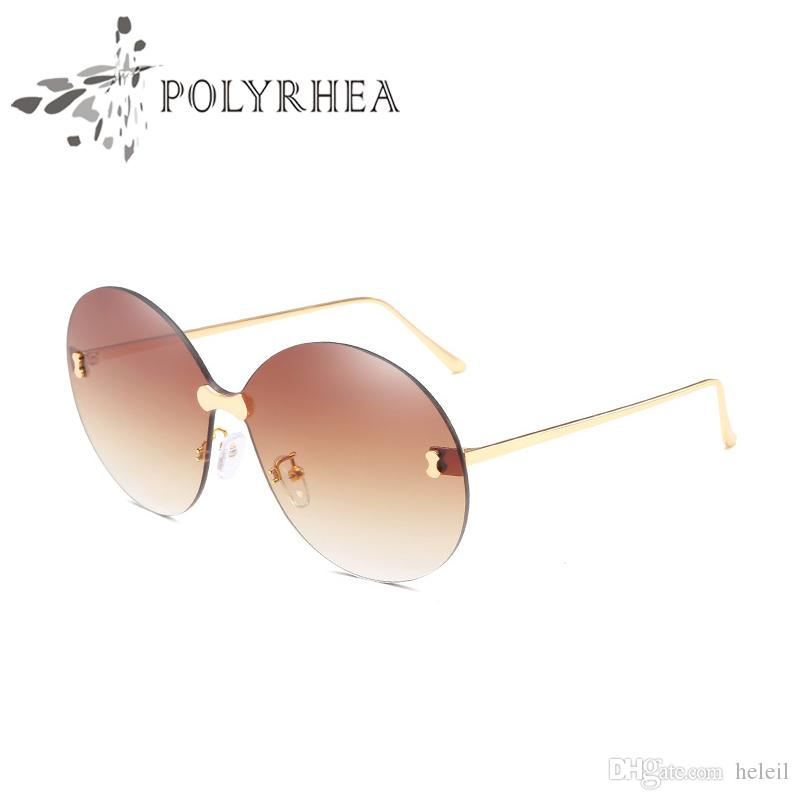 cb74fa26c9 Best Selling Style Women Brand Sunglasses Fashion Oval Sunglasses UV  Protection Lens Coating Mirror Lens Frameless Color Plated Frame Come  Victoria Beckham ...