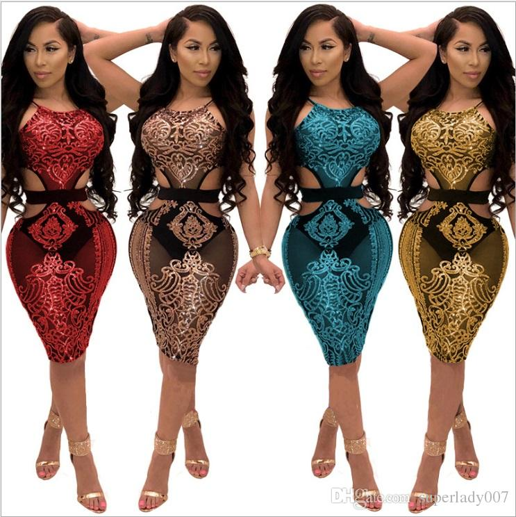 c5f88f729d145 Satın Al Moda Kadın Gündelik Elbiseler Seksi Sequins Gece Kulübü Pullu Elbise  Gece Kulübü Bayan Etek, $25.13 | DHgate.Com'da