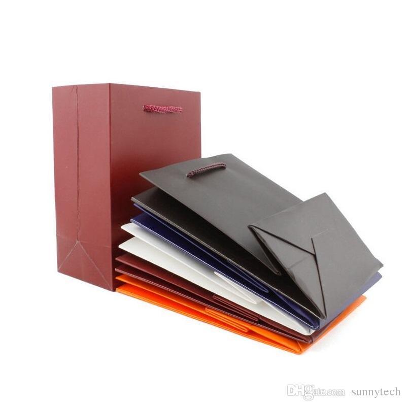 11.5 * 7 * 15.5 cm Kağıt Torba Katlanır High-end Takı Makyaj Ambalaj Çanta Hediye Paketleme Çanta Çanta ZA5617