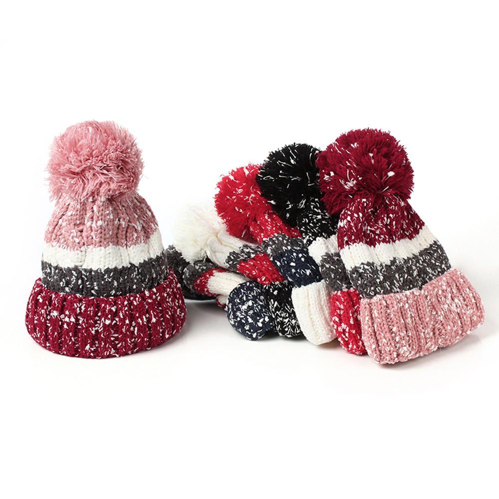 3a0d6f0919272 Compre gorras de invierno para mujer gorro de nieve de punto jpg 1000x1000  Caliente gorros para
