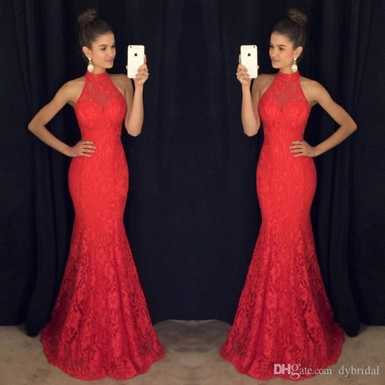 2018 sexy cheap plus size red lace black girl mermaid prom dresses formal evening gowns african prom dresses long