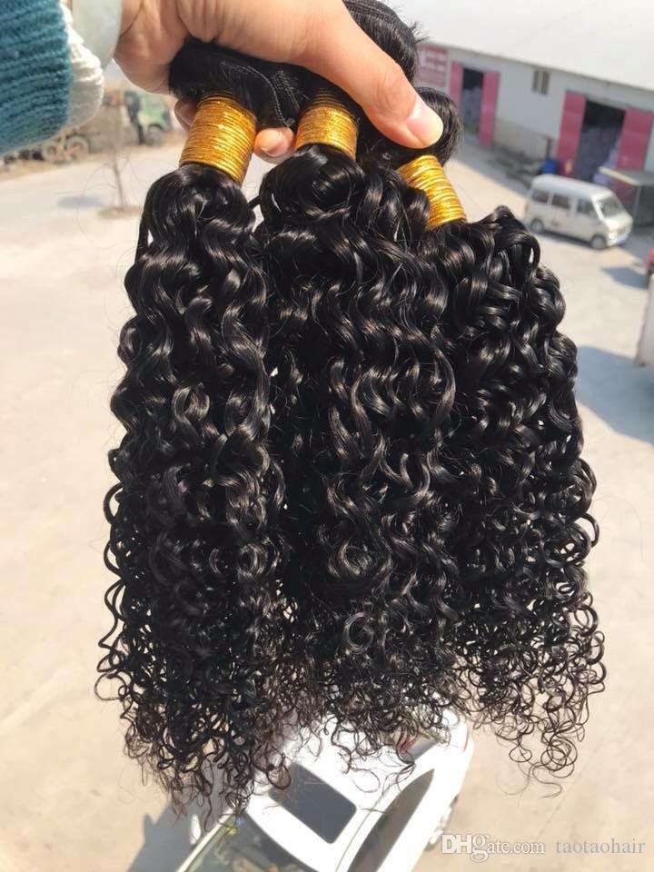 Brasilianische Jungfrau-Haar Jerry-Welligkeit des Großverkaufs tiefe lockige Webart nasses und wellenförmiges Menschenhaar 3 Bündel 100% brasilianische Haar-Verlängerung