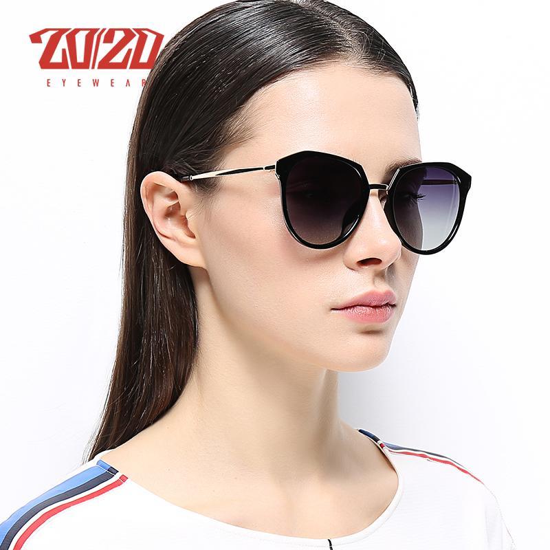 bca270a766c0 20/20 New Cat Eye Sunglasses Women Fashion Polarized Sun Glasses Metal Legs Shades  Female Glasses UV400 MD1815 Black Sunglasses Cycling Sunglasses From ...