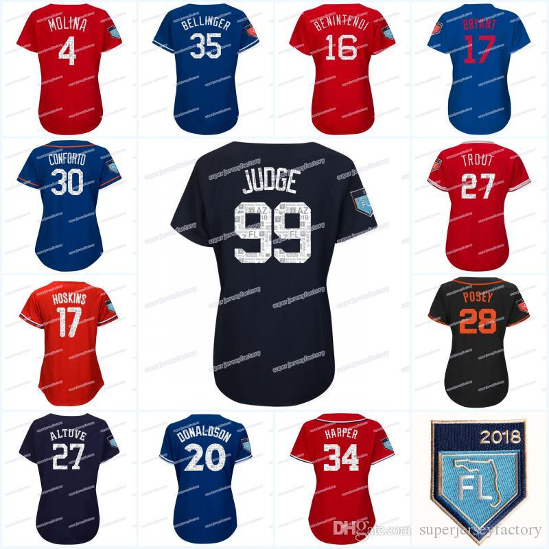 Women 99 Aaron Judge 2018 Spring Training Jersey 27 Jose Altuve High  Quality Baseball Jerseys 99 Aaron Judge Jerseys 2018 Spring Training Jerseys  27 Jose ... 9226ac090f0