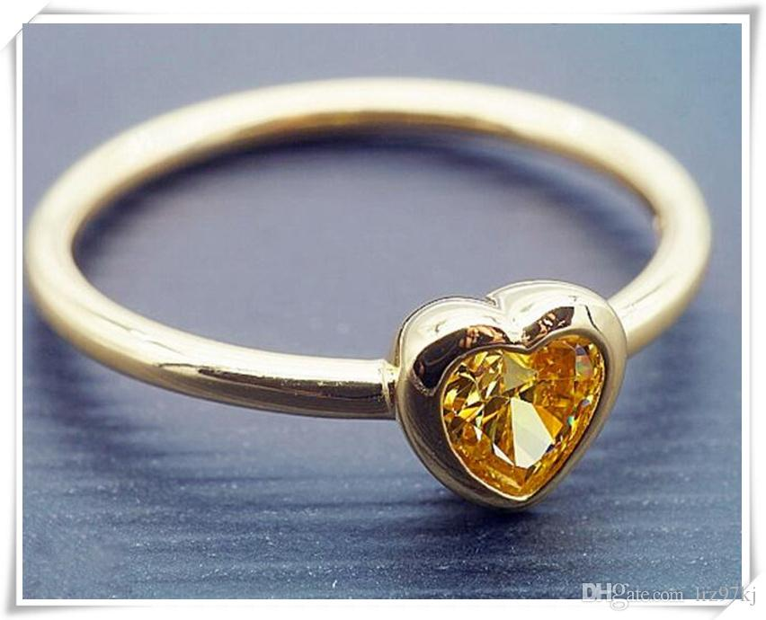 a9c809a92 High Quality 100% 925 Sterling Silver With Yellow Gold Plated Radiant Heart  Ring European Pandora Style Jewelry Charm Canada 2019 From Lrz97kj, ...