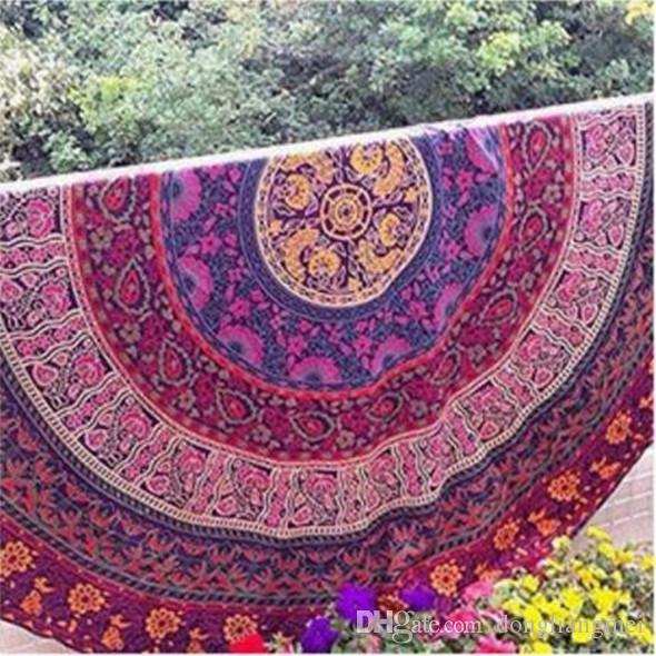 150cm Indian Mandala Bedspread 2020 Tapestry Shawl Wall Hanging Bohemian Ethnic Throw Beauty Wall Decor Beach Towel Bed Cover Yoga Mat Wn123