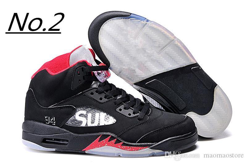 f852c156638d Compre Nike Air Jordan Aj5 2018 Zapatillas De Baloncesto Para Hombre 5 5s  Azul Rojo Blanco De Ante Cement Mermelada De Espacio Oreo OG Metallic Negro  ...