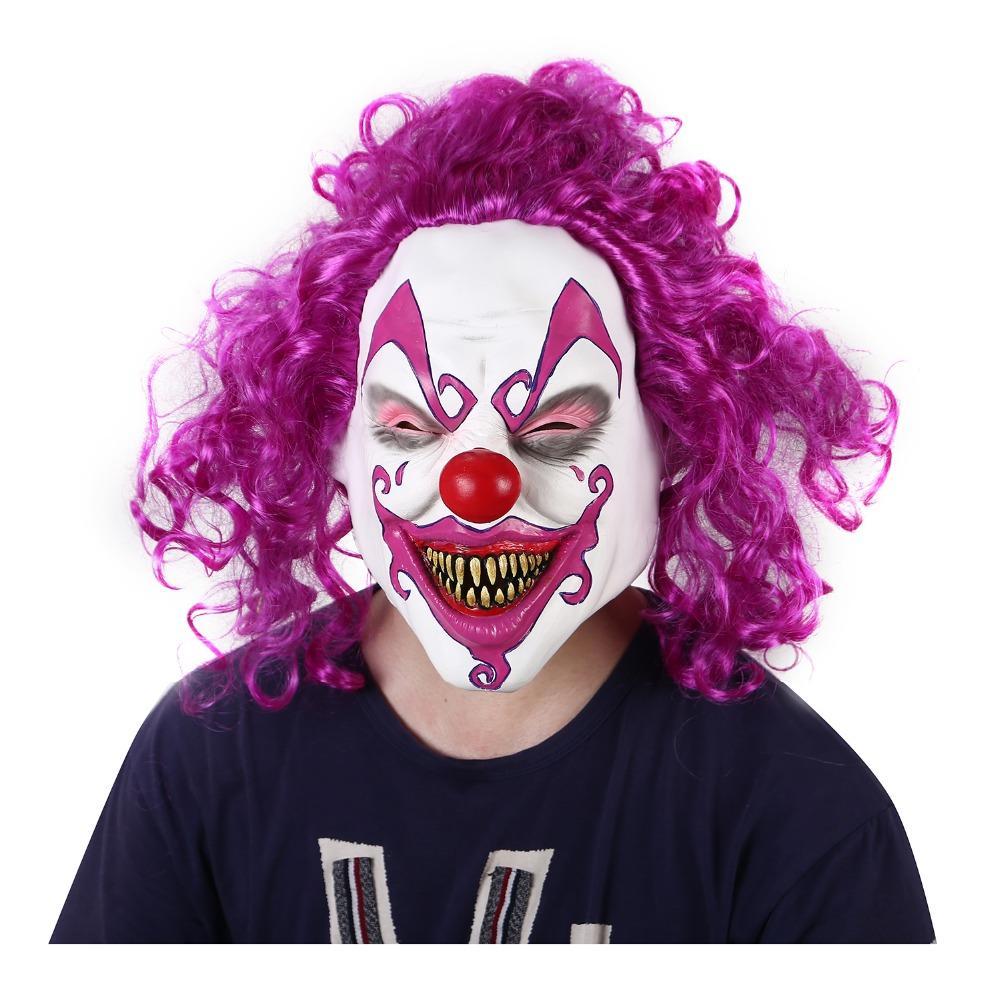 Compre Halloween Disfraces De Payaso Asustadizo Máscara Con Pelos Máscaras  Demonio Horror Lengua De Serpiente Máscara Apoyos Zombie Payaso Máscara De  Diablo ... 921eac825807