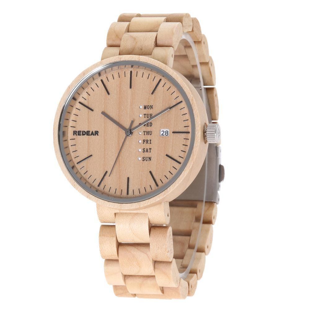 ca1f0dbc838 NO.1Redear Wood Watch Novel Cool Bamboo Wooden Watch Men Stylish Relogio  Masculino Men S Watch Quartz Leather Band Wristwatch Casual Watches Watch  Shop ...