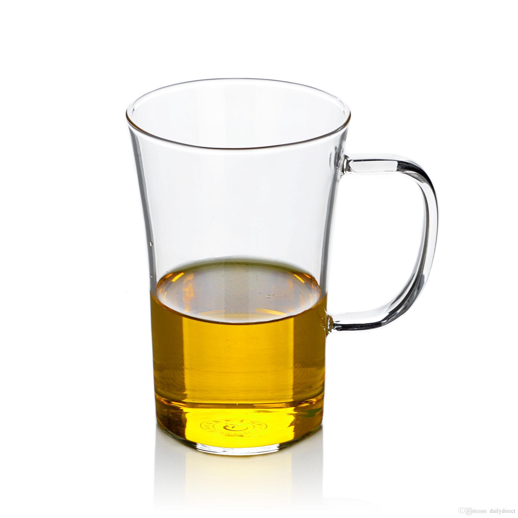 Lots Heat Resistant Glass Flared Tea Cup Mug for Flower Green Tea 330ml/11  fl oz Drop Shipping