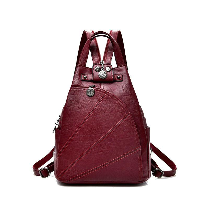Fashion Leisure Women BackpacWomen s PU Leather BackpacFemale School  Shoulder Bags for Teenage Girls Travel Back Pack School Bags Cheap School  Bags Fashion ... 500f14d3a2