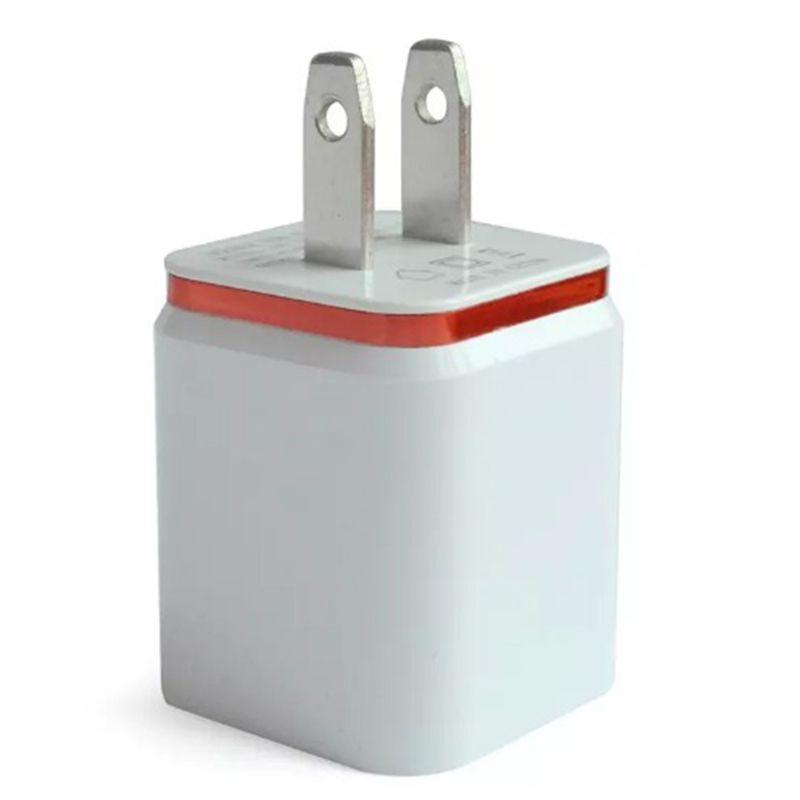 ITTA Dual USB Cargador de carga de pared 2 puertos Cargador de metal Enchufe 2.1A + 1A Adaptador de corriente para Iphone Samsung Ipad Cualquier teléfono