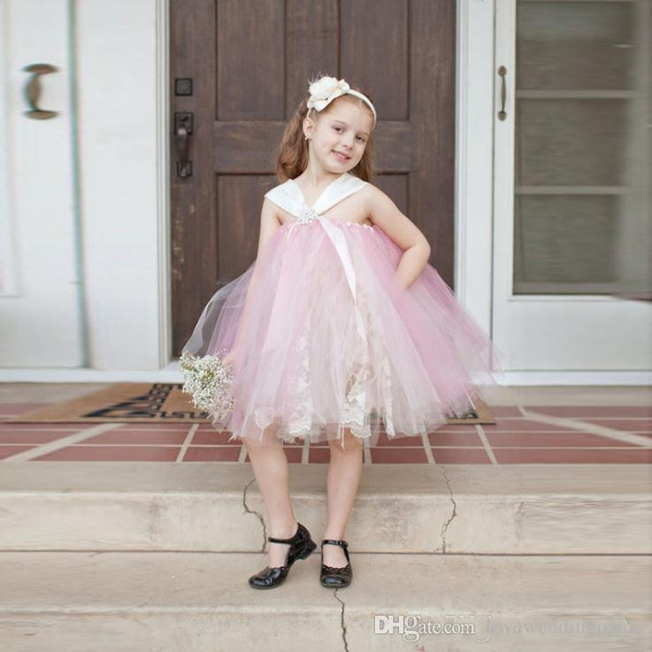 dc6615f80cff Lovely Pink Tutu Skirt Flower Girls Dresses Halter Tulle Skirt First  Cummunion Dresses For Toddler Cheap Red Dresses Girls Dresses From  Loveweddingmade, ...