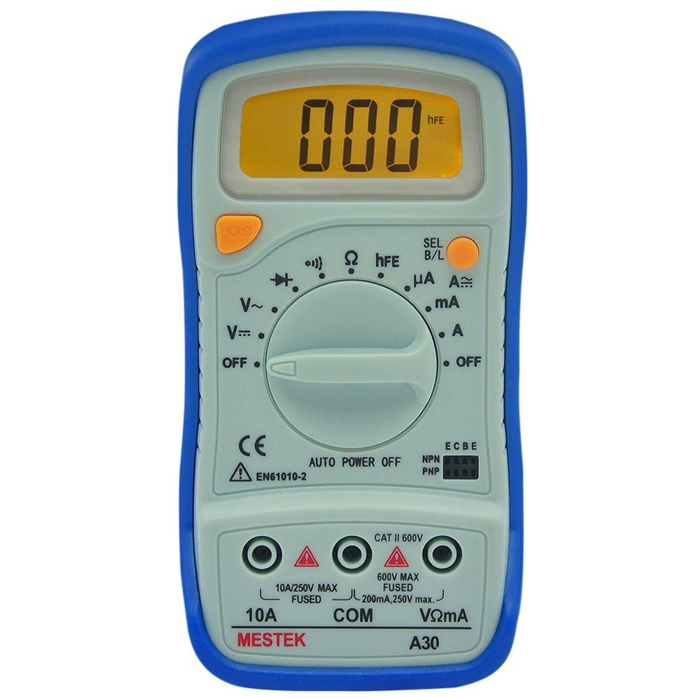 PEAKMETER Auto Range Digital Multimeter AC/DC Voltage Current Resistance Detector Handheld Temperature Capacitance Frequency