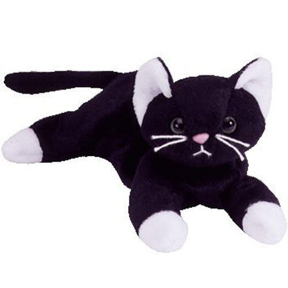 2019 Pyoopeo Ty Beanie Baby 4 10cm Zip The Black Cat Plush Small