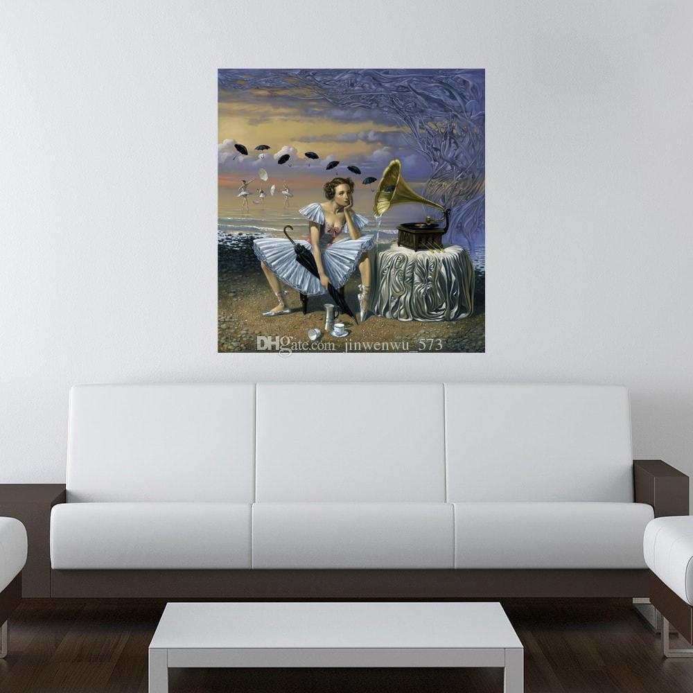2018 Michael Cheval,Melody Of Rain, Artwork Print On Canvas Modern ...