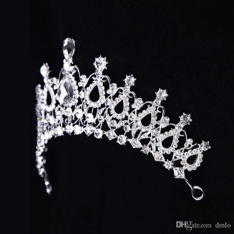Baroque Crystal Bridal Crowns Hairbands Bridal Tiaras Headpieces European Wedding Diadem Queen Crown Party Wedding Dresses Hair Accessories