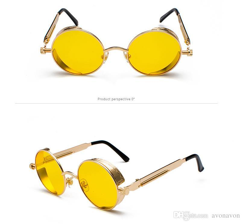 Eyewear Classic Steampunk Sunglasses Europe and the United States round personality reflective glasses sunglasses 886 men women glasses A468