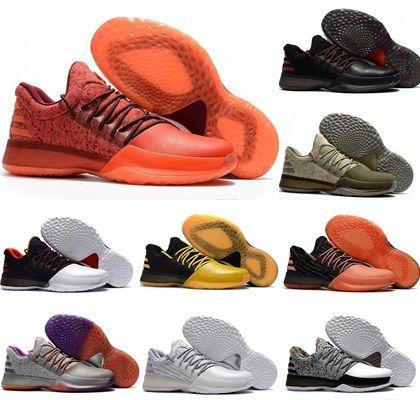 02e993543de Compre 2018 Nuevo Harden Vol. 1 Zapatos De Baloncesto Para Hombre Negro  Blanco Naranja Venta Al Por Mayor Moda Harden 1 BHM James Harden Zapatos  Zapatillas ...