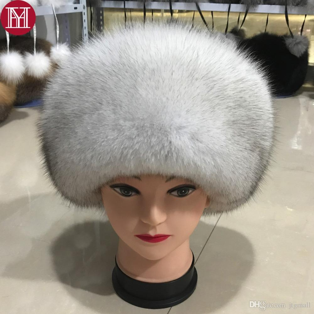 ba292a8f0b111 Fashion New Style Luxury Winter Russian Natural Real Fox Fur Hat Women Warm  Good Quality 100% Genuine Real Fox Fur Cap Hats Online Caps From Jtgmall