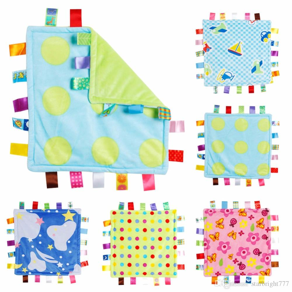 30 30cm Baby Appease Towel Baby Comforting Taggies Blanket Super Soft  Square Plush Toy Baby Appease BB Water Bath Shower Towel 465793b7e