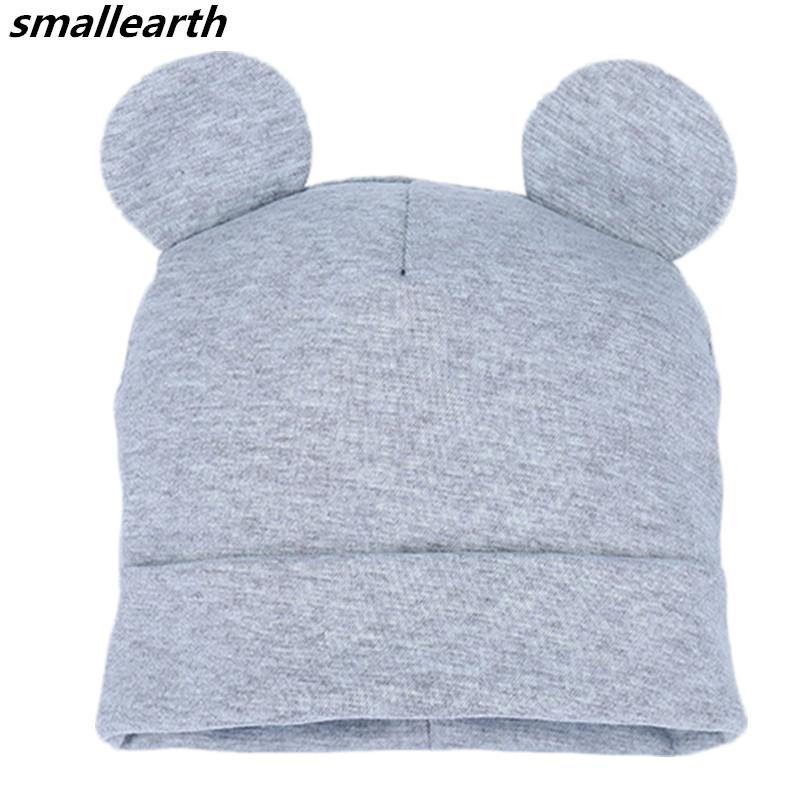 2019 Spring Autumn Baby Kids Beanies Caps Cute Ears Soft Warm Hat Cartoon  Cute Bear Ear Winter Hats For Boys Girls Cotton Solid Caps From Hcaihong cafda97b07e