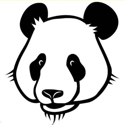 Compre Cabeza De Panda Dibujos Animados Arte Animal Etiqueta Coche ...
