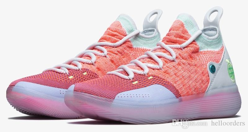 Compre Nuevos Zapatos De Baloncesto 2018 KD 11 EYBL Negro Gris Persa  Violeta Cloro Azul Rojo Zapatillas Kevin Durant 11s Diseñador De Zapatos De  Baloncesto ... 58220e84069