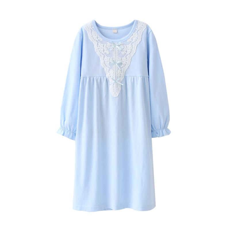 042937018a Girls Nightgowns Spring Autumn Princess Long Sleeve Nightdress Knitted Pajamas  Sleepwear Children Kids Girl Nightgown Y18102908 Girls Silk Pajamas  Christmas ...