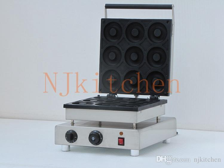 Livraison gratuite En Acier Inoxydable Électrique 220 V 110 V Donut Maker Machine Commercial Mini Donut Maker Machine Équipement envoyer expédition rapide
