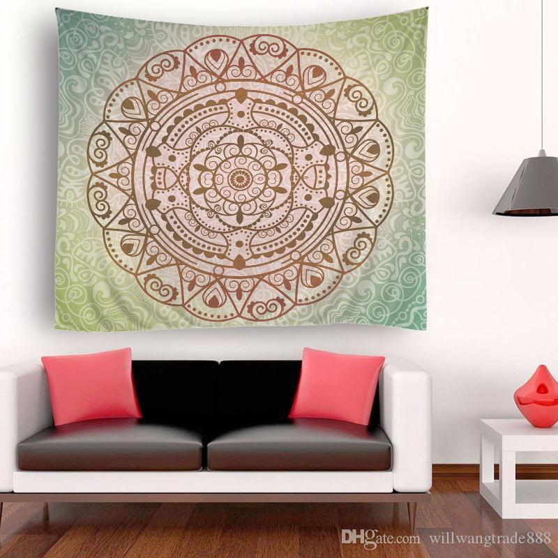 150x180cm довольно круглые большие цветы психоделический гобелен стены висит Мандала хиппи бросить покрывало